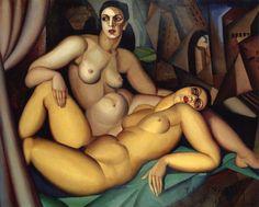 "artbeautypaintings: ""The two friends - Tamara de Lempicka """