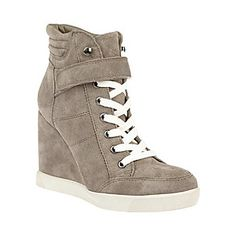 LLEVE TAUPE SUEDE women's athletic fashion wedge - Steve Madden