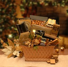 Golden Gatherings Holiday Gift Basket | All About Gifts & Baskets