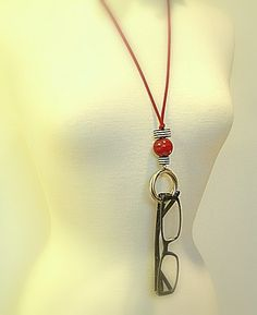 Eyewear Holder Eyeglass Chain Necklace Vintage Ring by JustColor, $22.00