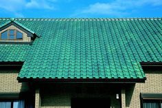 colored clay roof tiles | Colored roof tiles of Spanish design ( CERAM21 Blue Green color )