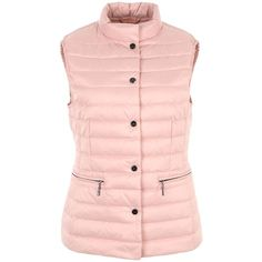 Basler Padded Gilet ($215) ❤ liked on Polyvore featuring outerwear, vests, pink, women, quilted vests, pink down vest, basler, down vest and pink quilted vest