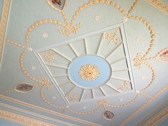 The Business Room Ceiling - Berrington House - Leominster - Herefordshire - England