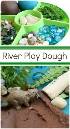 River Play Dough Invitation-Use for preschool pretend play or incorporate into an animal habitats theme in elementary school