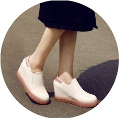 229a8996d02b Kawaii Online Store Shoes on The Demon's Chest.Casual Trabsparent Soles Jelly  Shoes Increased Wedges