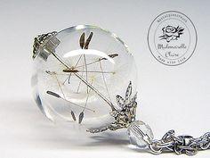 Halskette - Pusteblume - silberfarben von Mademoiselle Claire - Nostalgieschmuck auf DaWanda.com