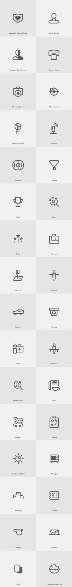 Today's featured freebie is a great set of stroke icons perfect for your sports related UI project....