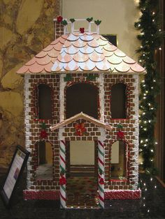 Gingerbread House Model love the brick idea....
