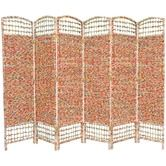 """Found it at Wayfair - 67"""" Recycled Magazine 6 Panel Room Divider"""