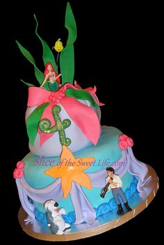 Little Mermaid Birthday Cake! I get Bryan a mermaid cake every year. I make fun of my husband because it was his favorite movie as a little boy. Lol
