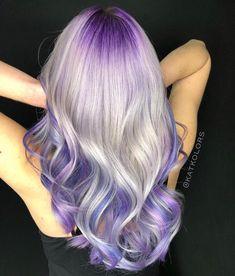 Purple Shadow Root And Gorgeous Platinum Hair By Katcolors Modernsalon Purplehair Purplehairdontcare