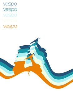 Vespa Poster by bazzlebeyond
