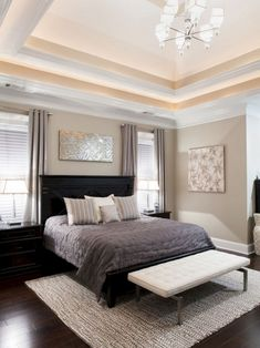 Ness - contemporary - bedroom -Shades of gray bedroom. Classic, yet modern. Home Decor Bedroom, Contemporary Bedroom, Bedroom Inspirations, Traditional Bedroom, Bedroom Interior, Home Decor, Bedroom Color Schemes, Bedroom Colors, Remodel Bedroom