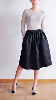 Szyjemy Sukienki Black Midi Skirt, Midi Skirts, Eclectic Style, Skirt Outfits, Thrifting, Fashion Ideas, Eye Candy, Channel, Autumn