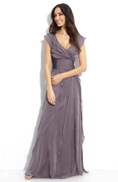 Tiered chiffon gown - comes in 7 different colors