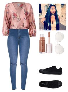 """""""Happy Birthday Caitlin !!!"""" by dangerousmistake ❤ liked on Polyvore featuring Sans Souci, Converse, Linda Farrow, cute, floral, party and 2018"""