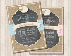 Sheep Baby Shower Invitations Best Of Neutral Burlap Baby Shower Lamb Invitation for Boy or Girl Gender Neutral Baby Shower, Baby Boy Shower, Burlap Baby Showers, Invitation Examples, Baby Shower Invitation Cards, Lamb, Awesome, Invites, Sheep