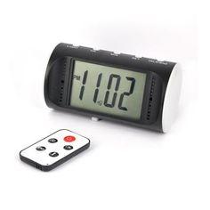 Cámara oculta en reloj despertador con detección de movimiento y mando a distancia. Ideal para la vigilancia en los dormitorios