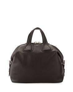 0e1eca7630 Nightingale Medium Waxy Leather Satchel Bag Black · Givenchy ...