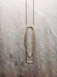 Collar de oro puertas geométrica-por lazo por LoopHandmadeJewelry