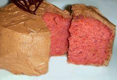Raspberry Cupcakes w/ Ganache Frosting