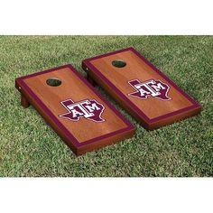 Victory Tailgate NCAA Cornhole Game Set NCAA Team: Texas A&M University Aggies, Color: Rosewood