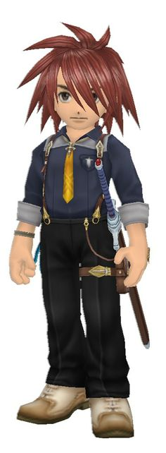 Kratos' Tales of Symphonia Chronicles costume, Ludger from Tales of Xillia 2