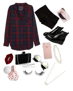 """""""Untitled #468"""" by kkatproducts ❤ liked on Polyvore featuring WithChic, Robert Rose, Lime Crime, Kendra Scott, Rails and L'Agence"""