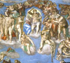 "Michelangelo's ""The Last Judgment"" in the Sistine Chapel."