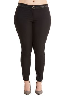 Work Appropriate Styles in Plus Sizes - Conference Call It a Day Pants in Black - Plus Size