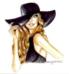 For Ella's glamour wall! Fashion Illustration print Go For It blonde in by EmilyBrickel, $20.00 etsy