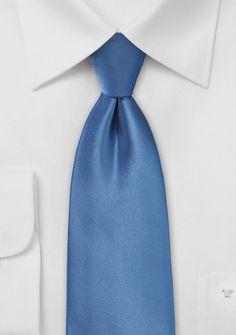 Solid Necktie in Steel Blue