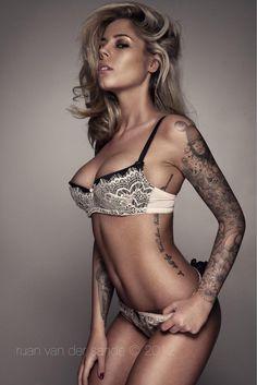 ... Model Photographers, Tattoo Models, Bikinis, Swimwear, Bra, Tattoos, Fashion, Brassiere, Moda