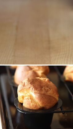 These Popovers are THE BEST rolls! Similar to Yorkshire Pudding, they have a crispy exterior and hollow interior. Light, buttery, and fabulous. Breakfast Recipes, Dessert Recipes, Bread Baking, I Love Food, Thanksgiving Recipes, Food To Make, Food And Drink, Drink Menu, Appetizers