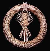 Corn Dolly Wreath . . . Straw Weaving, Paper Weaving, Rattan, Wicker, Corn Dolly, Straw Crafts, Wheat Straw, Folk Art, Harvest