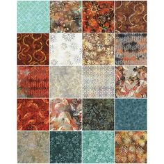 Timeless Treasures Judy Neimeyer Copper Tonga Batiks Forty Fabric Squares 10 Inches