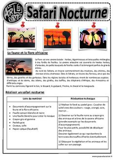 Safari Nocturne – Ce1 - Ce2 – Cm1 – Cm2 – Arts visuels – Cycle 3 - Pass… History Education, Art Education, Education Major, Lessons For Kids, Art Lessons, Art Montessori, Art History Major, 6th Grade Art, Ecole Art