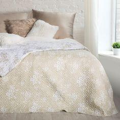 Cuvertura reversibila Nicole Cream / Beige, 220 x 240 cm Interiordesign, Comforters, Beige, Blanket, Cream, Home Decor, Creature Comforts, Creme Caramel, Quilts