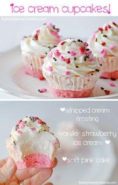 Ice Cream Cupcakes | Easy Cupcake Recipes | The Cupcake Daily Blog