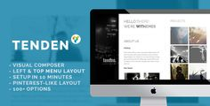 Tenden - Simple Creative Portfolio Theme by withemes  Tenden is a simple, clean &creative-layout Wordpress theme. It¡¯s suitable for thoseneed a quick setup portfolio or want a new-