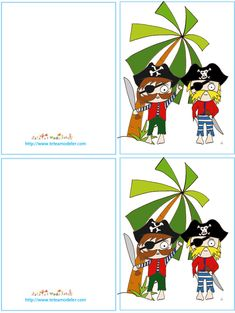 Invitation pirate à imprimer