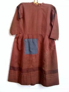 19Th C Child's Amish Dress.. Love the Big Blue Pocket on the front. Found Kentucky..  1800primitives.com