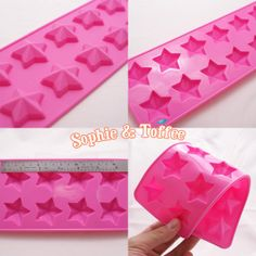 Star Shaped Ice Cubes Resin Polymer Clay Soap Silicone Mold