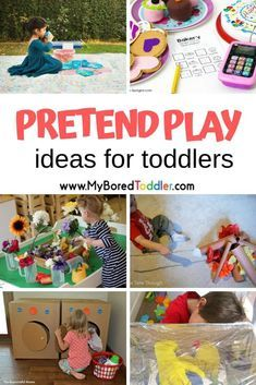 pretend play ideas for toddlers and preschoolers - easy ways to DIY pretend play and dramatic play for toddlers #myboredtoddler #pretendplay #dramaticplay #toddlerplay #toddleractivity #toddleractivities #preschoolactivity #preschoolactivities