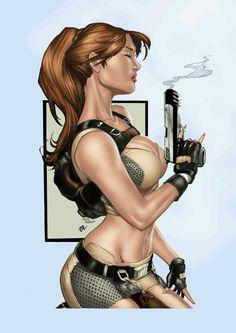 Lara Croft by Mike Debalfo