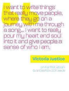 Rewind! GL exclusive with #VictoriaJustice #Inspiration #BeYourself
