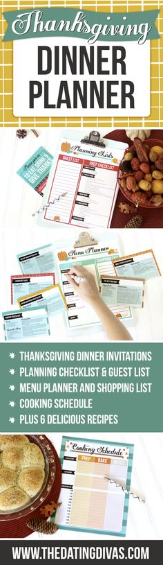 FREE THANKSGIVING PLANNER Hosting Thanksgiving dinner has never been so easy! This planning checklist and Thanksgving meal planner is a lifesaver. Thanksgiving Meal Planner, Thanksgiving Food Crafts, Hosting Thanksgiving, Thanksgiving Sides, Holiday Planner, Thanksgiving Decorations, Happy Thanksgiving, Dinner Planner, Meal Planning