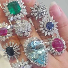 ac.silver Having fun on Tuesday, trying on our faves of the day (we couldn't decide on one so we did an array). Antique gems are our true loves