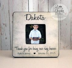 Thank You For Being Our Ring Bearer by 2ChicksAndABasket on Etsy