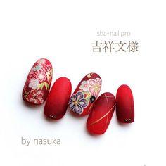 Asian Nail Art, Asian Nails, Fingernail Designs, Cute Nail Designs, Cute Nails, Pretty Nails, Japan Nail, New Years Nail Art, Soft Nails